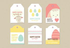 Vector Easter Labels