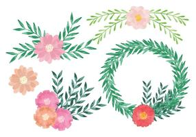 Vector Watercolor Wreaths