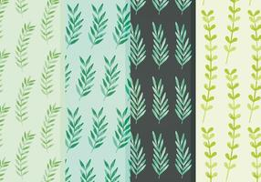 Pattern di foglie vettoriali