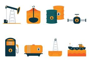 Vector Olie Flat Icons