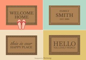 Disegni di tappetino di benvenuto vettoriali gratis