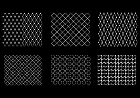Vector libre patrón de la red de peces