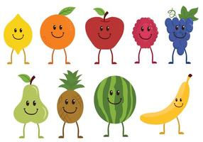 Vecteurs de caractères de fruits gratuits