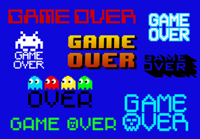 Gratis Game Over Vector