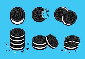 Vector de las galletas de Oreo