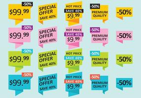 Pricing And Offer Stickers vector