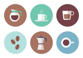 Kaffee-Element Vektor-Icons