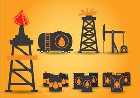 Vector de campo petrolífero