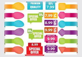 Pricing Stickers vector
