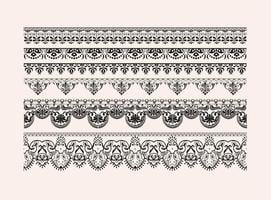 Vector Free Lace Vector Borders