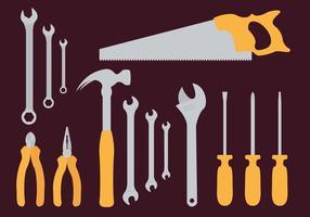 Monkey Wrench Herramientas Ilustración Vectorial