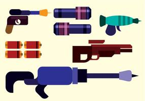 vettore di pistola laser