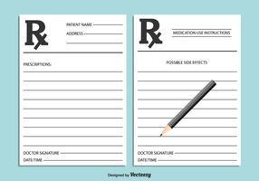 Ilustração médica com receita médica