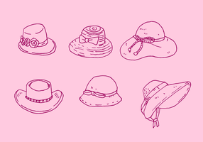 Ladies Hat Vector Set