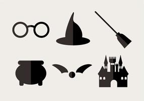 Minimal wizard icons set
