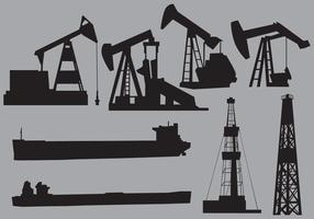 Oil Structres And Transports vector
