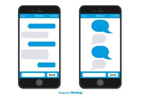 Smartphone Med Message Bubbles
