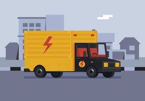 Vector elektrische afdeling vrachtwagen