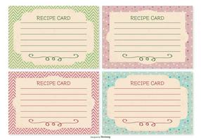 Retro Style Recipe Card Set