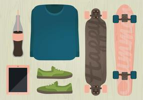 Vector Longboard Illustratie