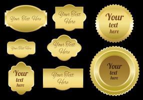 Vecteur d'emblèmes d'or gratuit