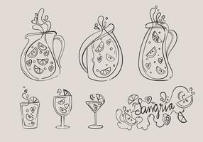 Hand Drawn Sangria Vector Set