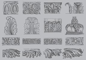 Vectores del ornamento del Acanthus