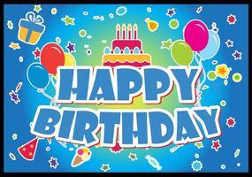 Feliz cumpleaños conjunto de vectores