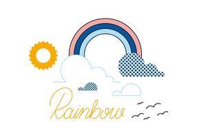 Vetor livre do arco-íris