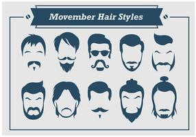 Movember Hair Styles Vector