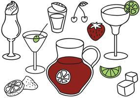 Vecteurs de boissons gratuites