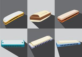 Vector Illustration Harmonica