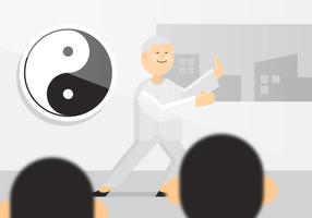 Vector Tai Chi Old Man