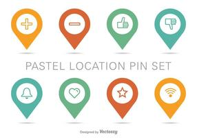 Carte de position Pin Vector Set