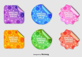 Badges floraux de vente saisonnière