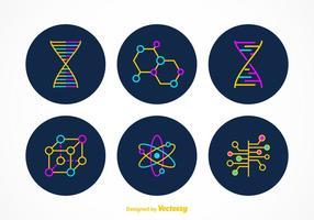 Simboli vettoriali di nanotecnologia