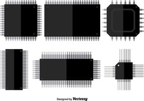 Icônes de vecteur Microchip