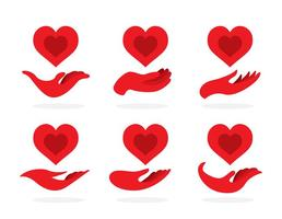 Red Hand Donate Icons