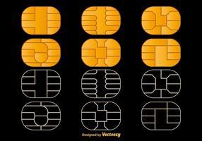 Mikrochip vektorikoner