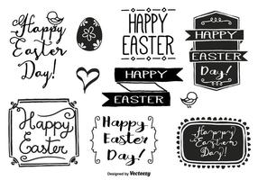 Hand-drawn-easter-label-set