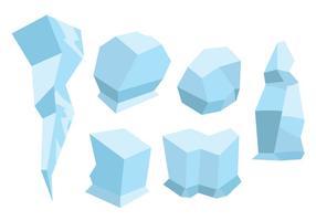 Conjunto de vector de edad de hielo