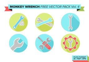 Monkey Skiftnyckel Gratis Vector Pack Vol. 4