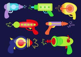 Laserguns Vektor Illustrationer