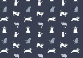 Gratis Kat- en Hondpatroon Vector