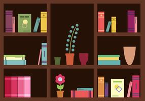 Gratis Bookshelf Vector