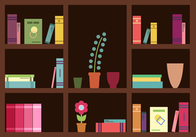 Gratis bokhyllavektor
