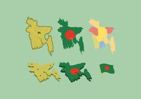 VECTOR LIVRE DO MAPA BANGLADESH