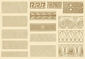 Ancient Greek Keys vector