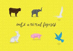 Gratis Cute Animal Figures Vector