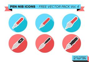 Pen Nib Icons Free Vector Pack Vol. 4